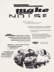 [Scan] :: Make Some Noise One-sheet Promo (cir. 1994)