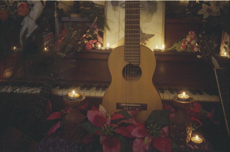 [Photo Scan] :: Jennifer Castle's Yamaha guitlele (cred. Landon Speers)