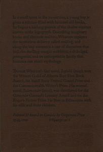 Sleeve: The Logogryph by Thomas Wharton