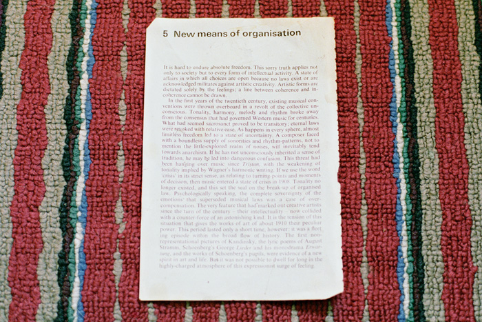 Ephemera of Carl Didur - New Means of Organization