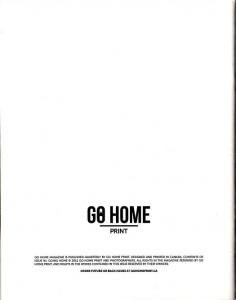 Go Home Magazine (Issue #1) (back)