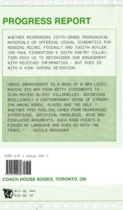 Needs Improvement by by Jon Paul Fiorentino (back cover)