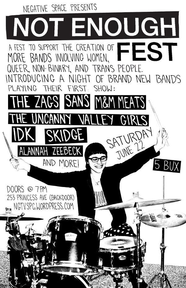 Not Enough Fest - Poster